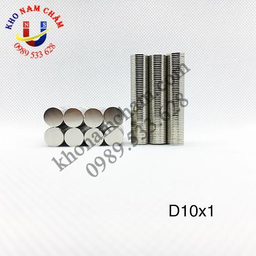 Nam châm viên D10x1 mm