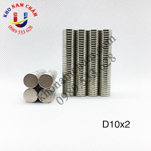 Nam châm viên D10x2 mm