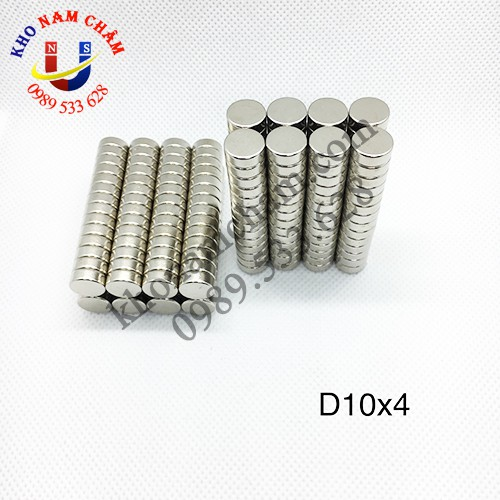 Nam châm viên D10x4 mm