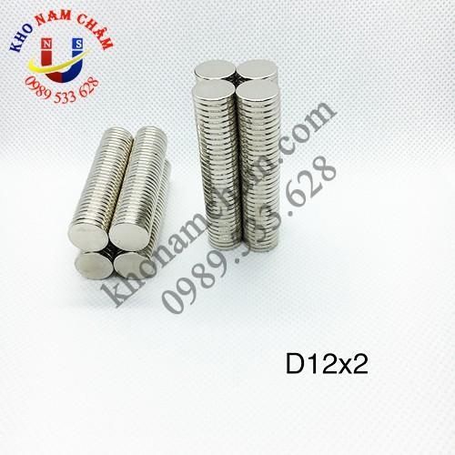 Nam châm viên D12x2 mm
