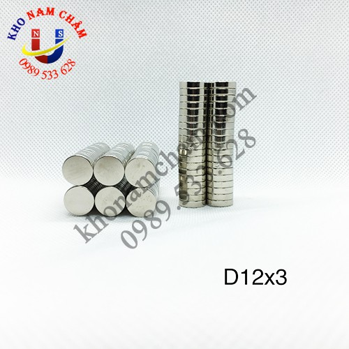 Nam châm viên D12x3 mm