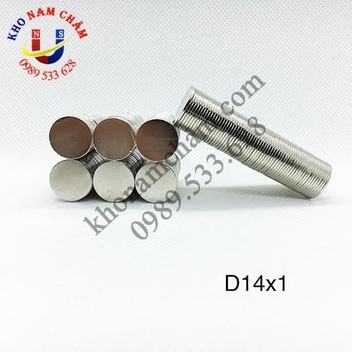 Nam châm viên D14x1 mm