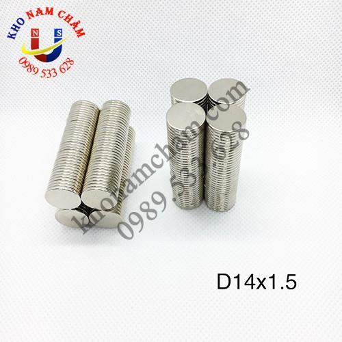 Nam châm viên D14x1.5 mm
