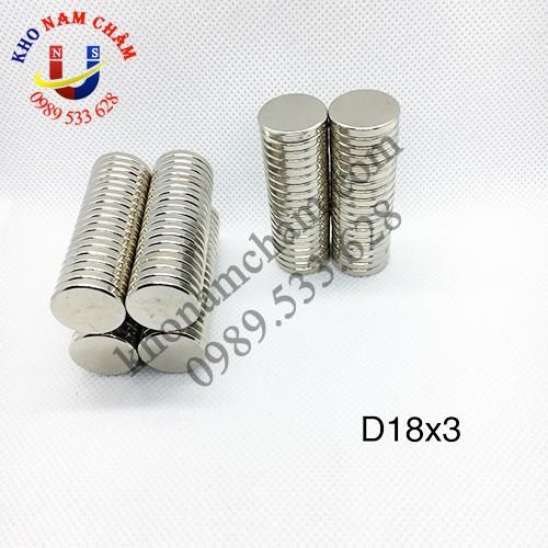 Nam châm viên D18x3 mm