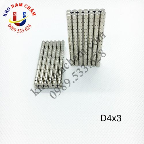 Nam châm viên D4x3 mm