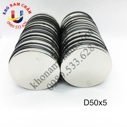 Nam châm viên D50x5 mm