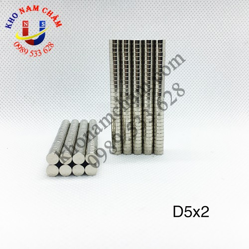 Nam châm viên D5x2 mm