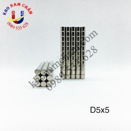 Nam châm viên D5x5 mm