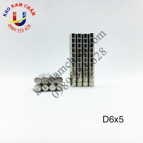 Nam châm viên D6x5 mm