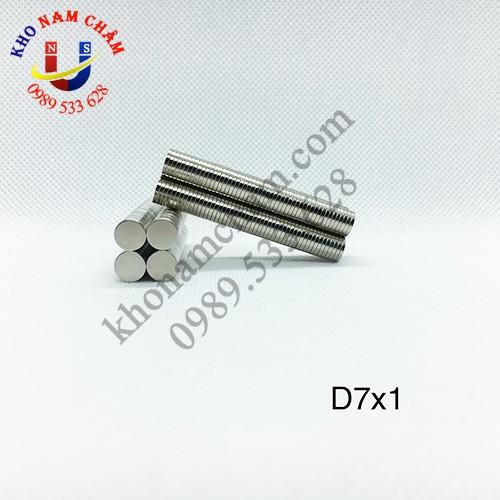 Nam châm viên D7x1 mm