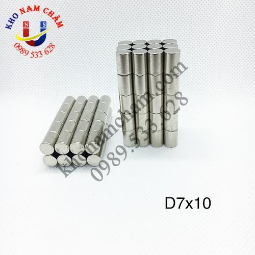 Nam châm viên D7x10 mm