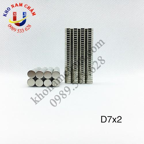 Nam châm viên D7x2 mm