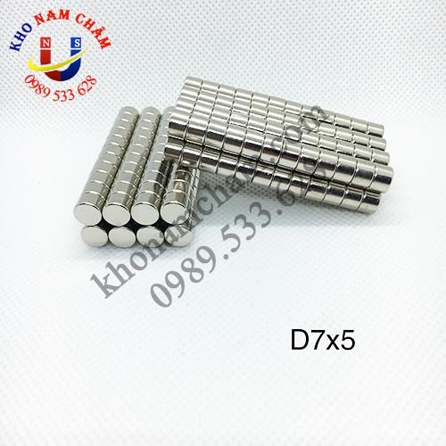 Nam châm viên D7x5 mm