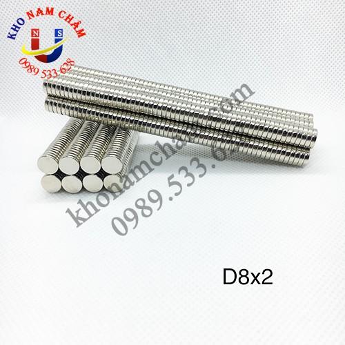 Nam châm viên D8x2 mm