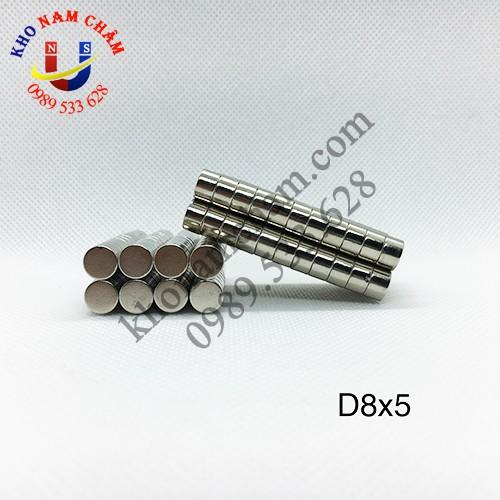 Nam châm viên D8x5 mm