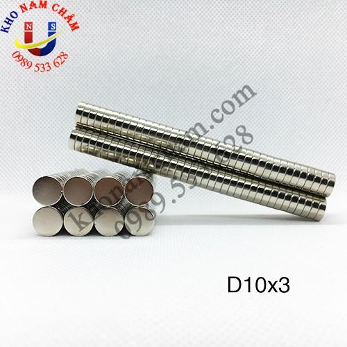 Nam châm viên D10x3 mm