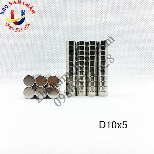 Nam châm viên D10x5 mm