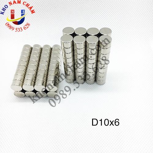 Nam châm viên D10x6 mm