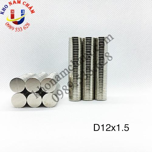 Nam châm viên D12x1.5 mm