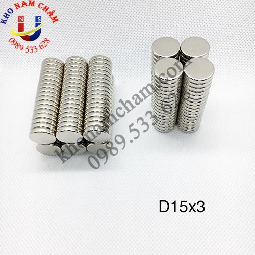 Nam châm viên D15x3 mm