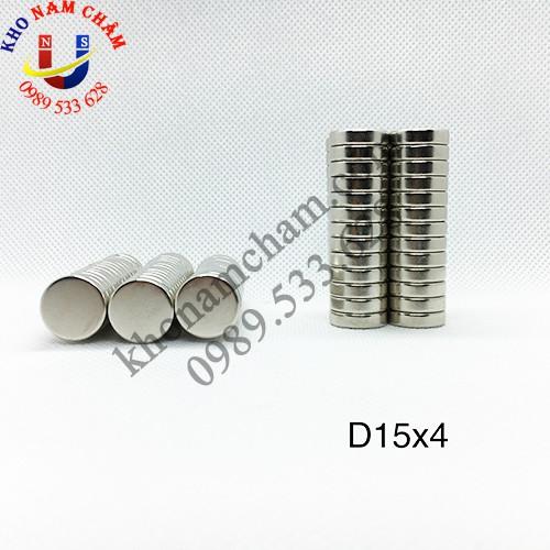 Nam châm viên D15x4 mm