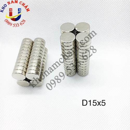 Nam châm viên D15x5 mm