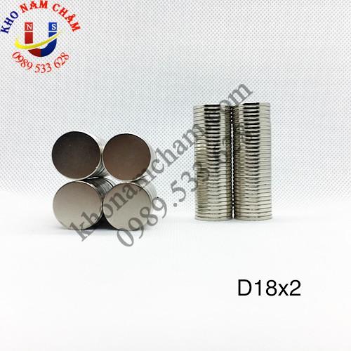 Nam châm viên D18x2 mm