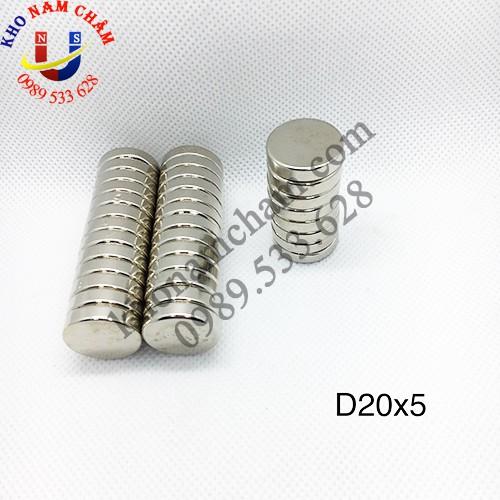 Nam châm viên D20x5 mm