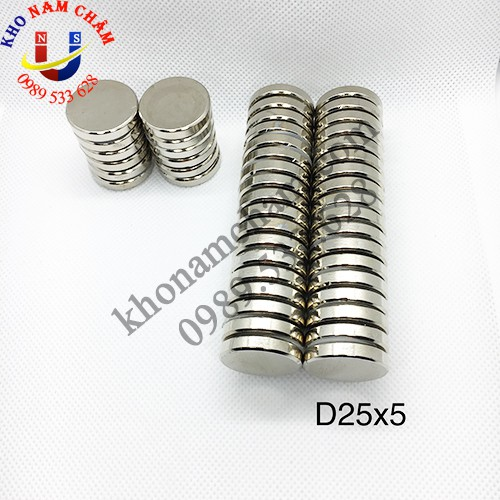 Nam châm viên D25x5 mm