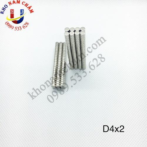 nam châm viên D4x2 mm
