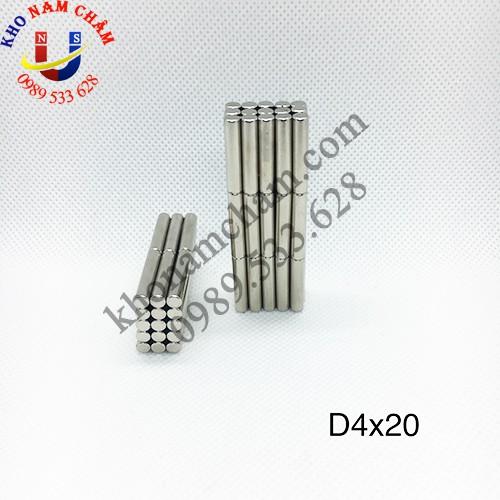 Nam châm viên D4x20 mm