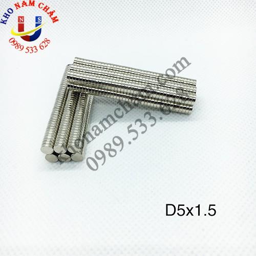 Nam châm viên D5x1.5 mm