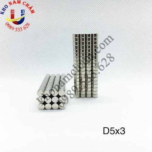 Nam châm viên D5x3 mm