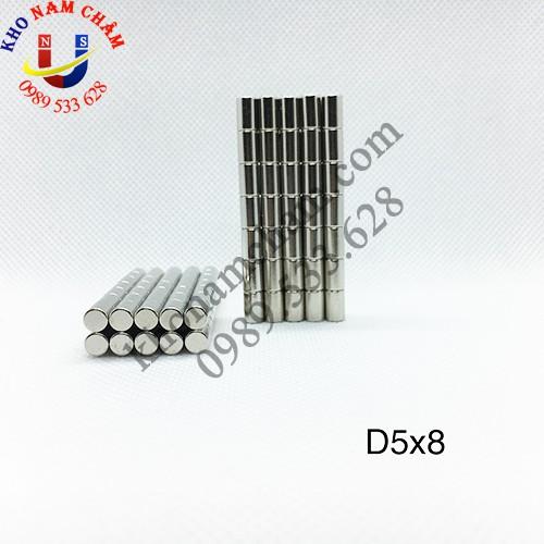 Nam châm viên D5x8 mm