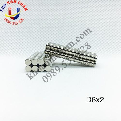 Nam châm viên D6x2 mm