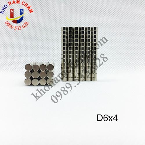 Nam châm viên D6x4 mm