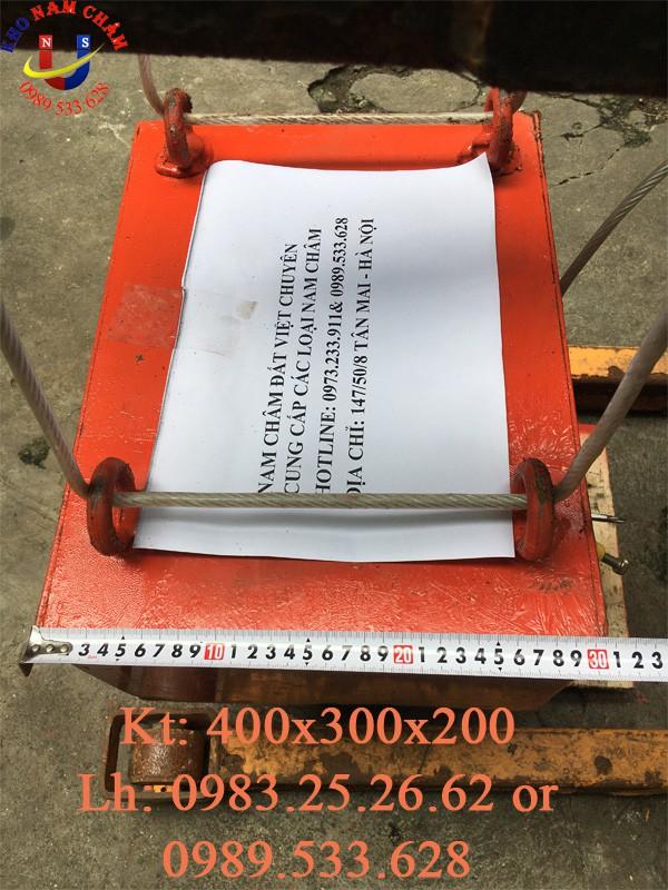 nam châm phẳng kích thước 400x300x200 mm